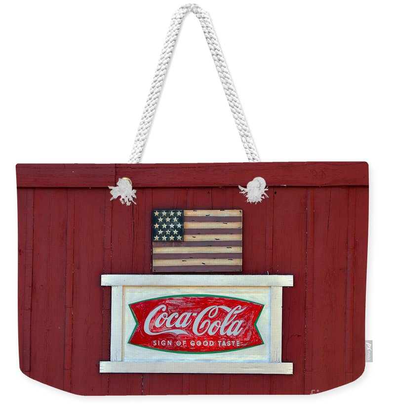 American Weekender Tote Bag featuring the photograph Sign Of Good Taste by Catherine Sherman
