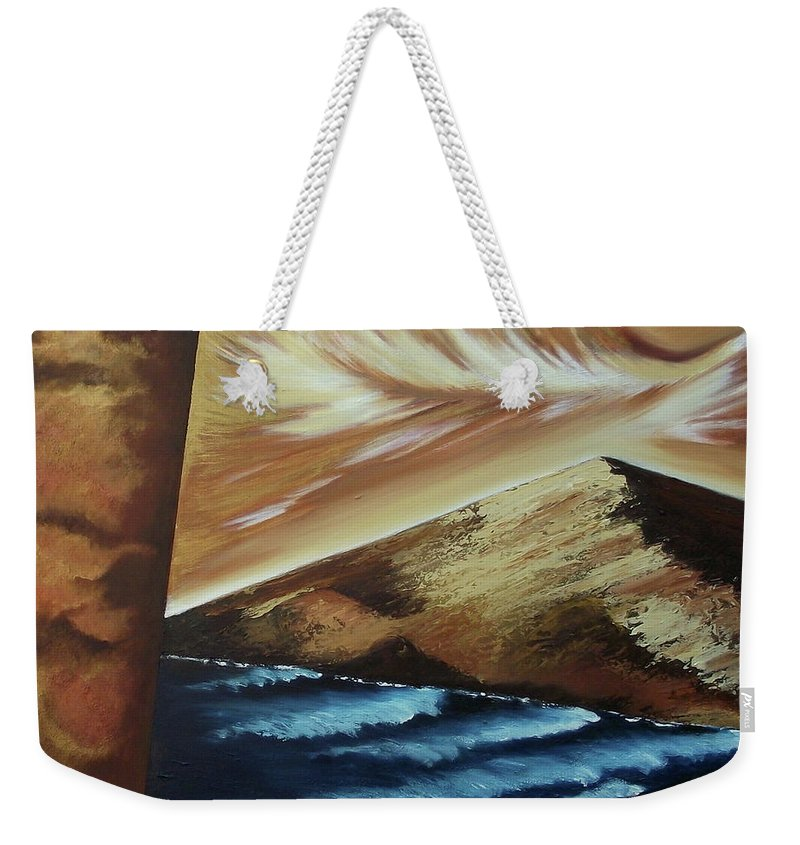 Weekender Tote Bag featuring the painting Sign of Truth by Ara Elena