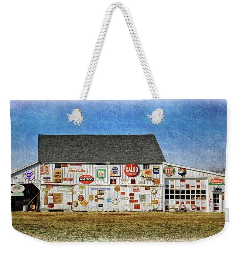 2d Weekender Tote Bag featuring the photograph Signs Of The Time by Brian Wallace