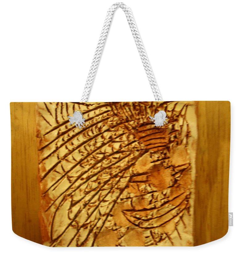 Jesus Weekender Tote Bag featuring the ceramic art Sikh - Tile by Gloria Ssali