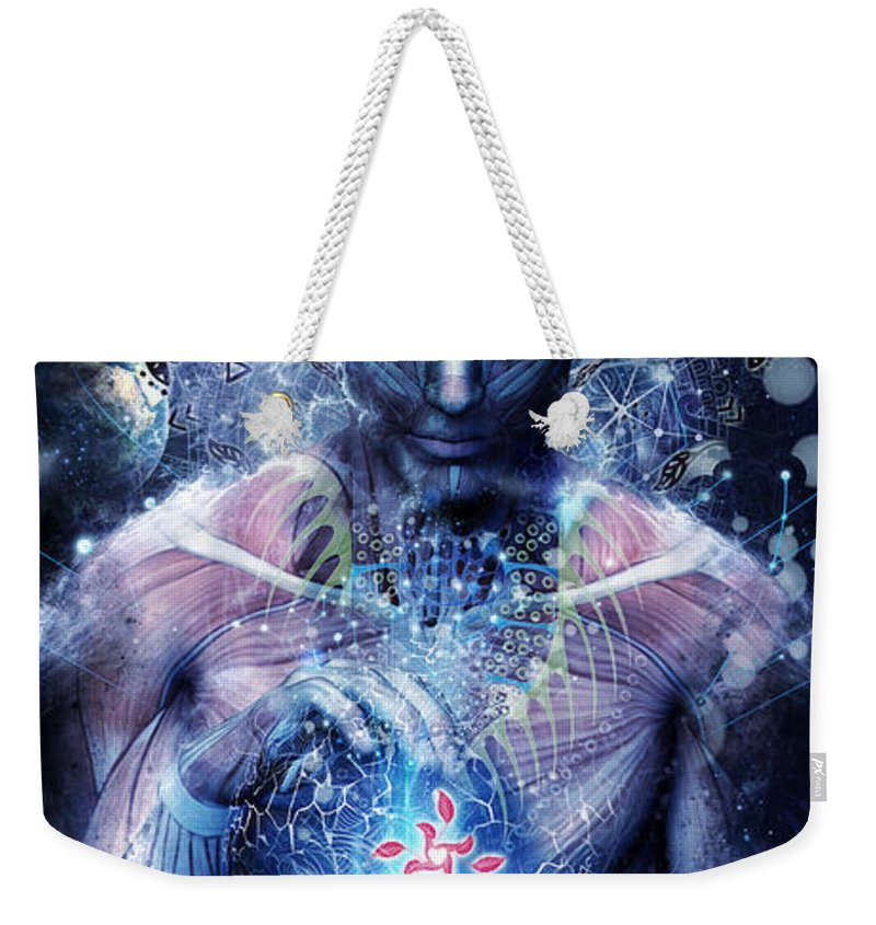 Meditate Weekender Tote Bags