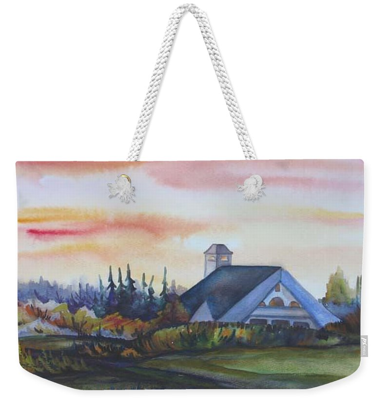 Watercolor Weekender Tote Bag featuring the painting Silence Upon Midnapore by Anna Duyunova