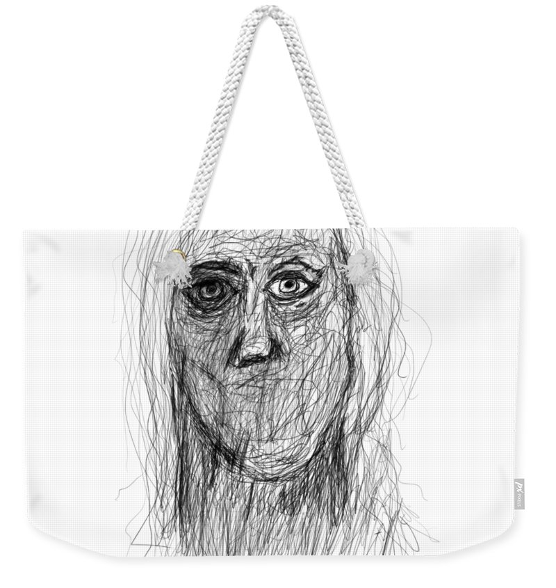 Pencil Drawings Weekender Tote Bag featuring the drawing Silenced by Bill Owen