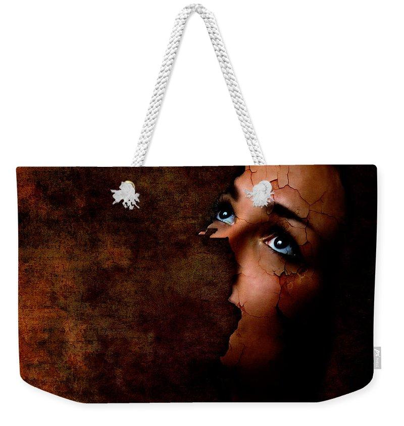 Surreal Weekender Tote Bag featuring the digital art Silenced by Jacky Gerritsen