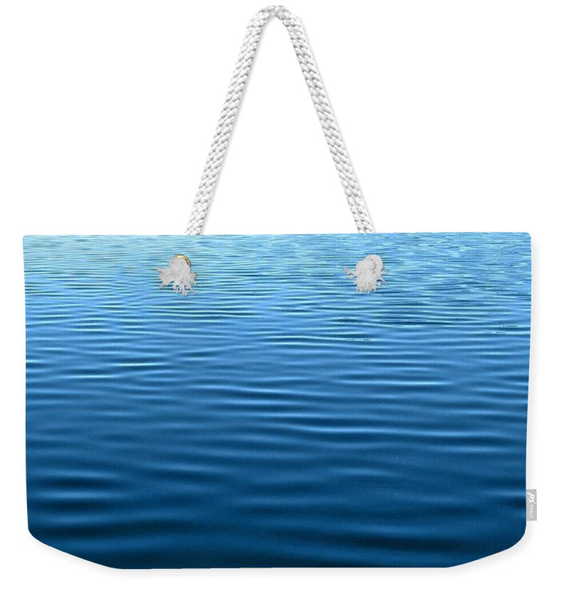Ocean Weekender Tote Bag featuring the photograph Silent Blue Tranquility by Patti Mayer