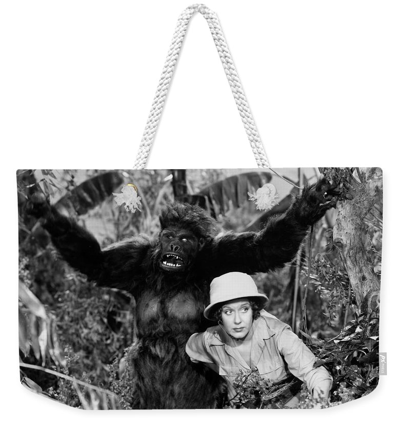 -zoology- Weekender Tote Bag featuring the photograph Silent Film Still: Animal by Granger