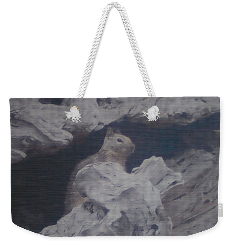 Squirrel Weekender Tote Bag featuring the photograph Silent Observer by Pharris Art