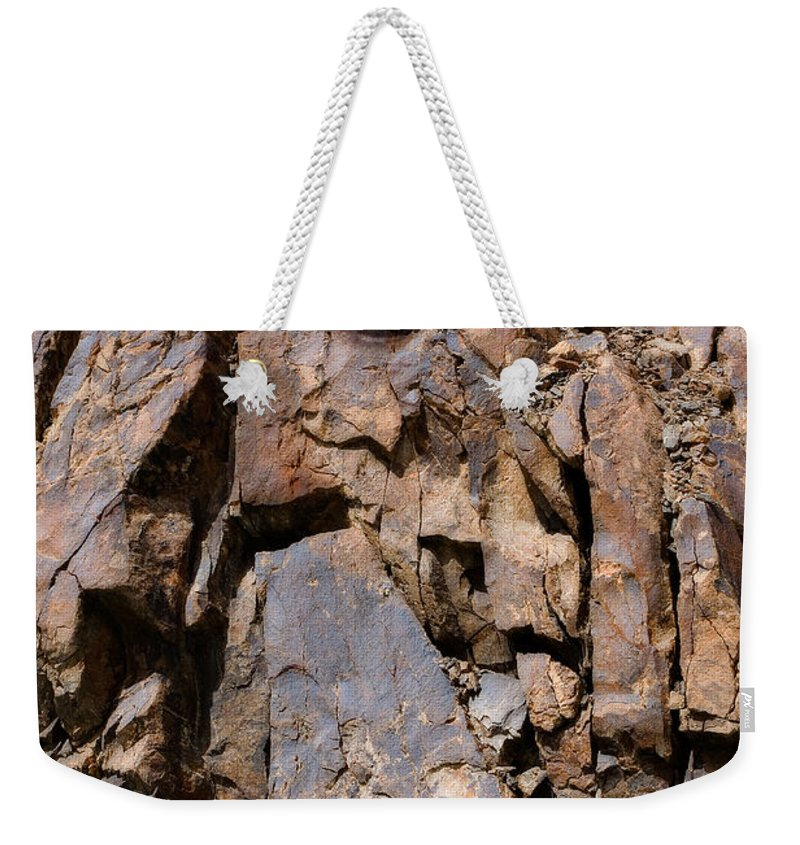 Abstract Weekender Tote Bag featuring the photograph Silent Rocks by Konstantin Dikovsky