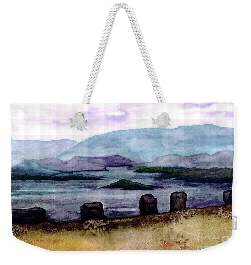 Original Painting Weekender Tote Bag featuring the painting Silent Sentinels by Patricia Griffin Brett