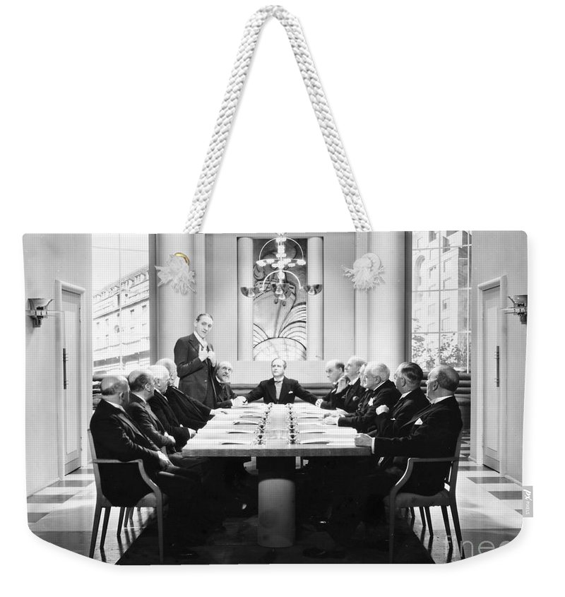 -board Meetings- Weekender Tote Bag featuring the photograph Silent Still: Board Meeting by Granger