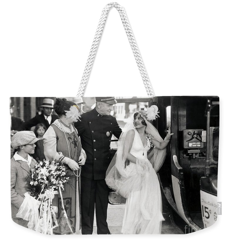 -weddings & Gowns- Weekender Tote Bag featuring the photograph Silent Still: Do Your Duty by Granger