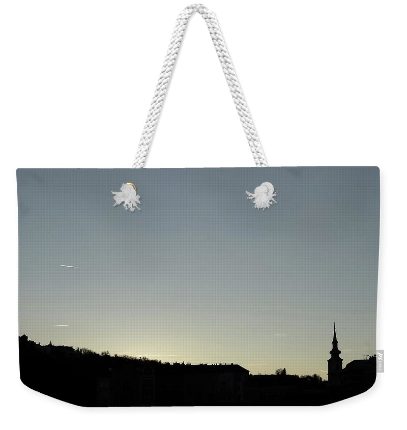 Danube Weekender Tote Bag featuring the photograph Silhouette by Explorer Lenses Photography