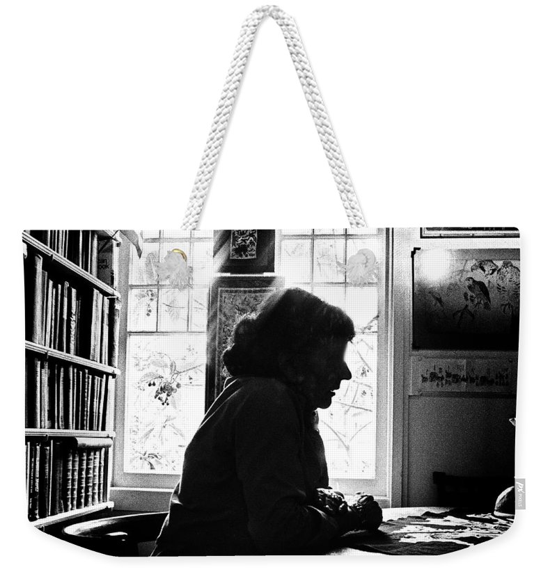 Woman Weekender Tote Bag featuring the photograph Silhouette by Herman Robert