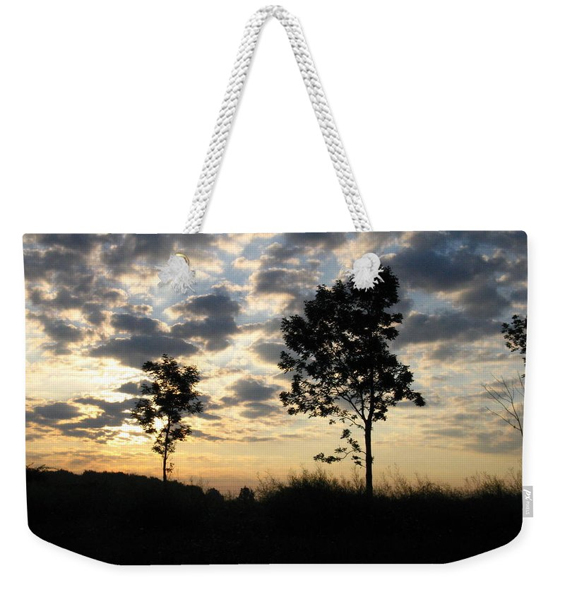 Landscape Weekender Tote Bag featuring the photograph Silhouette by Rhonda Barrett
