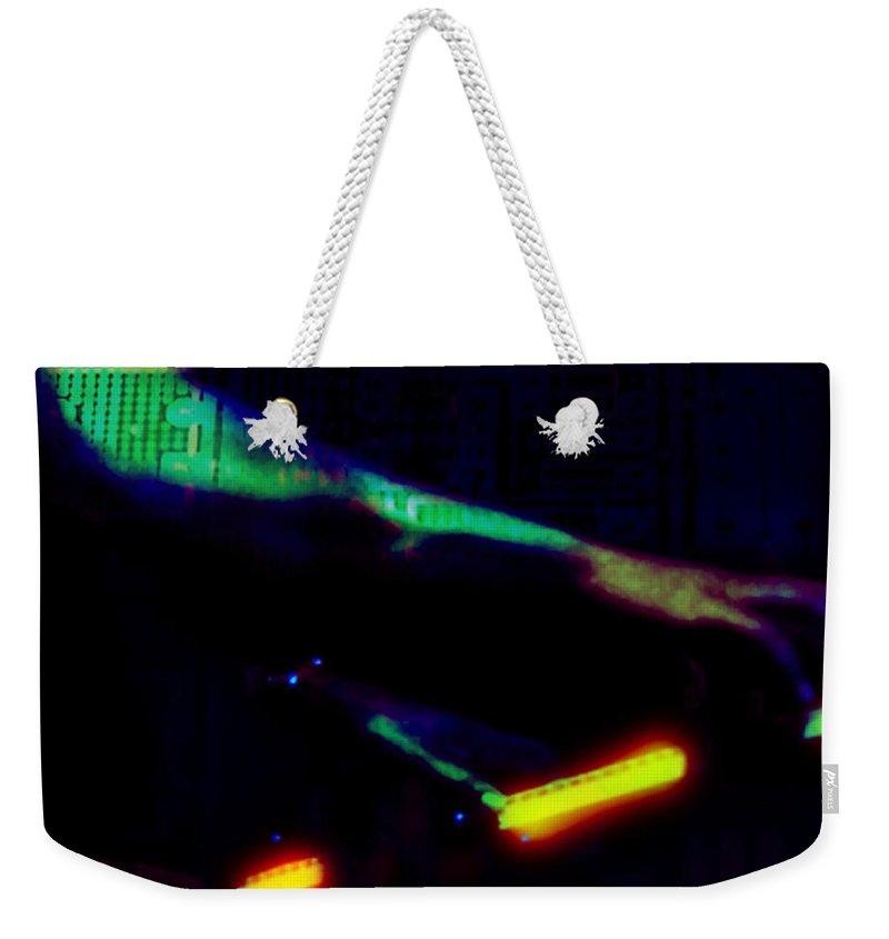 Herbie Hancock Weekender Tote Bag featuring the digital art Silicon Man by Ken Walker