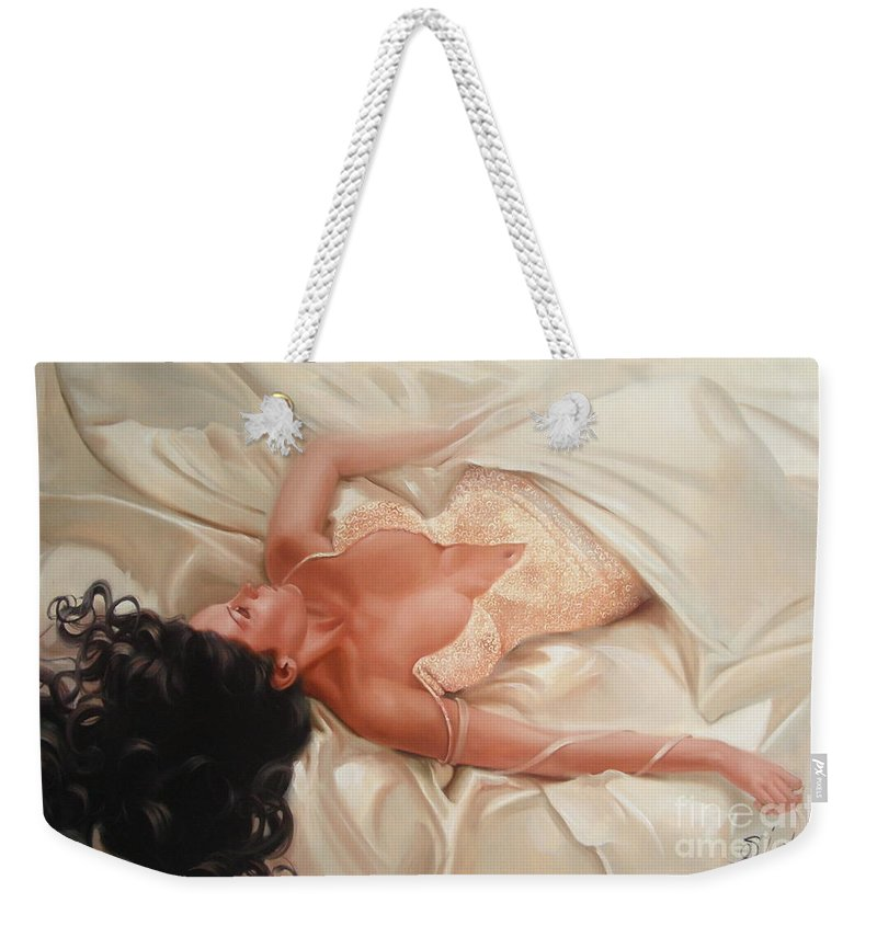 Art Weekender Tote Bag featuring the painting Silk and Thrill by Sergey Ignatenko