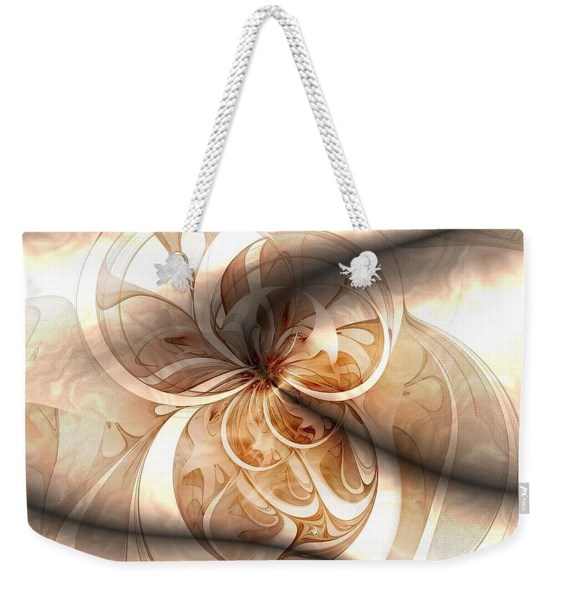 Digital Art Weekender Tote Bag featuring the digital art Silk by Amanda Moore