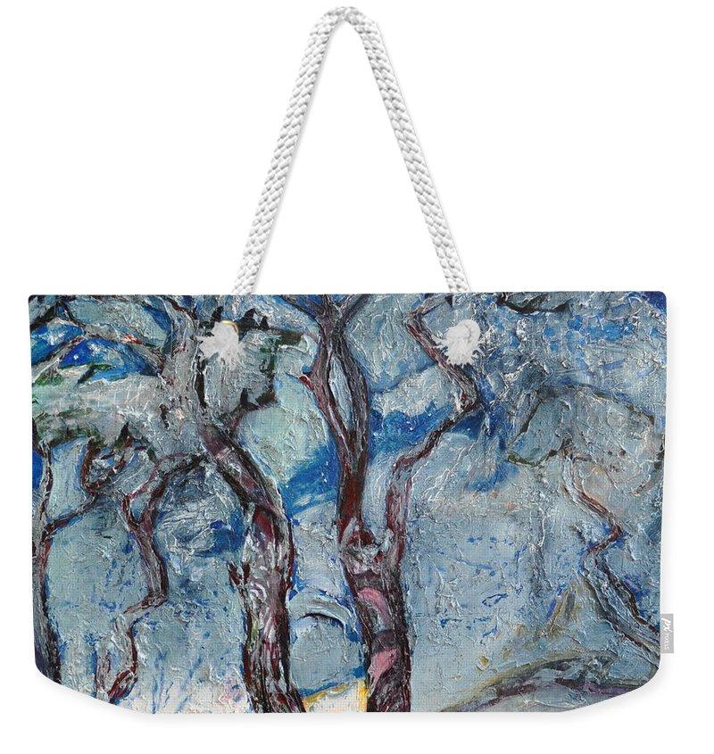 Ignatenko Weekender Tote Bag featuring the painting Silver Beach by Sergey Ignatenko