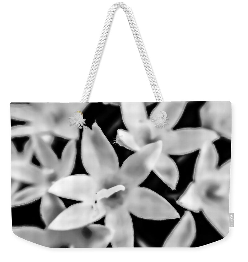 Black And White Weekender Tote Bag featuring the photograph Silver Bells by Denise DuFresne