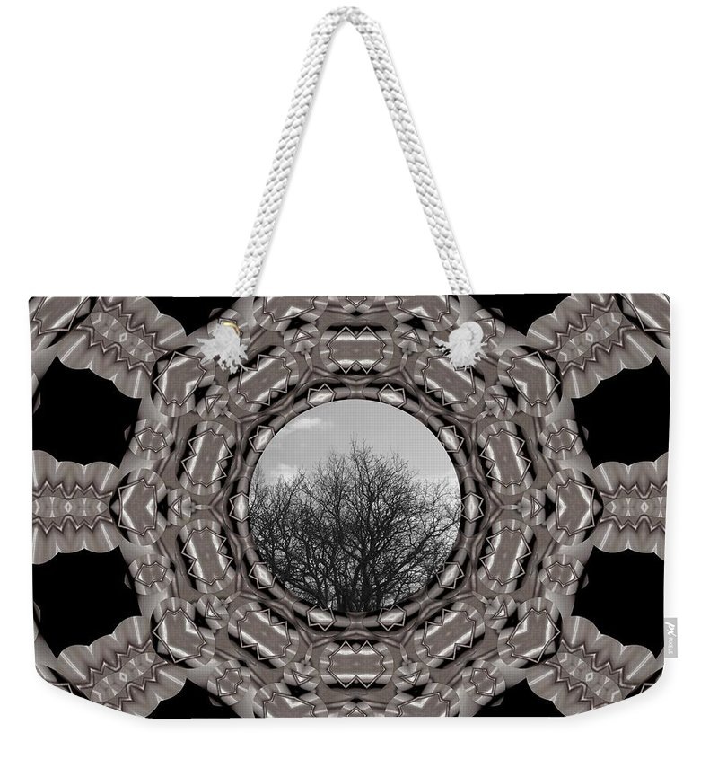 Tree Weekender Tote Bag featuring the mixed media Silver Idyl by Pepita Selles