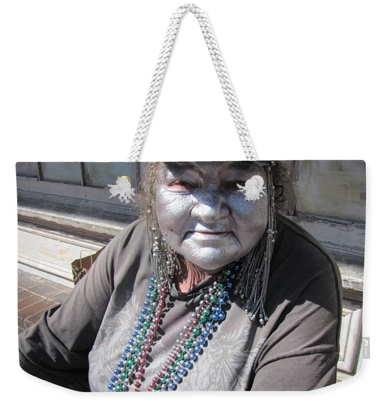 Art Weekender Tote Bag featuring the photograph Silver Lady by Michelle Powell