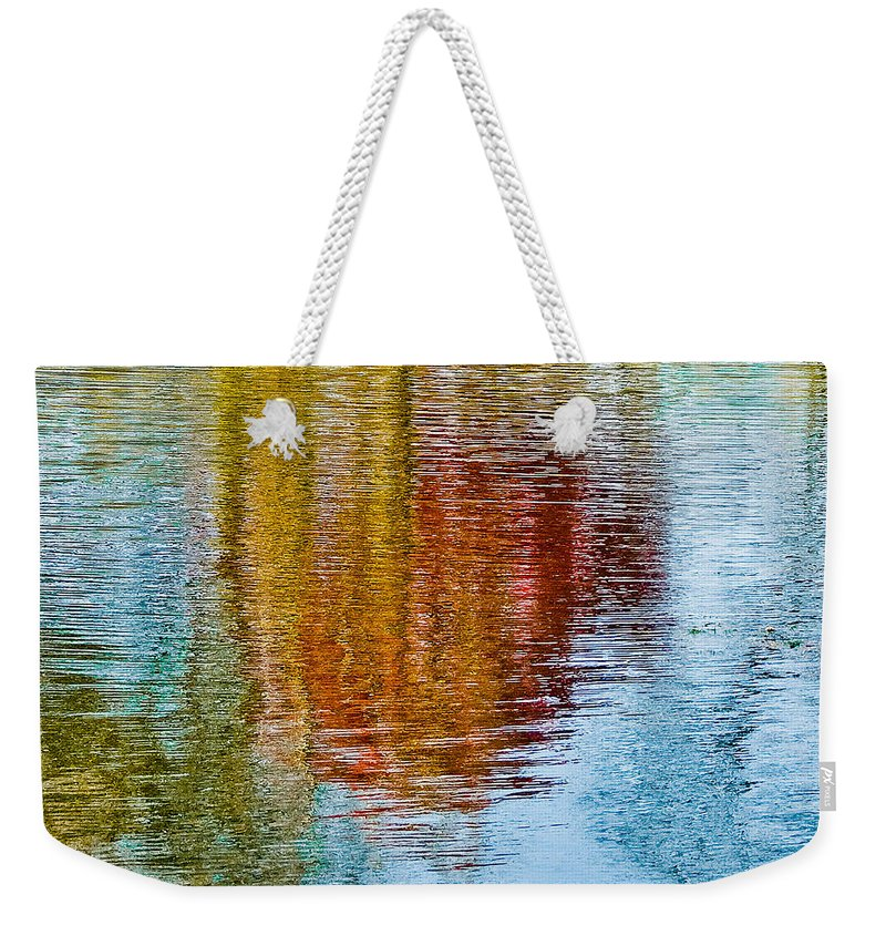 Silver Weekender Tote Bag featuring the photograph Silver Lake Autumn Reflections by Michael Bessler