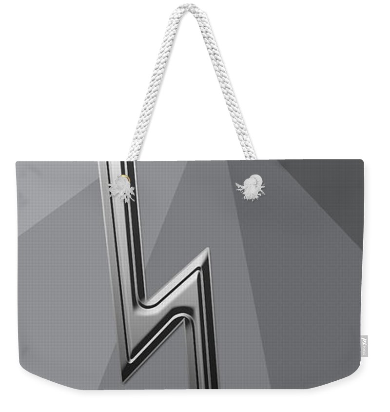 Abstract Weekender Tote Bag featuring the digital art Silver Lightning by Aimee L Maher ALM GALLERY