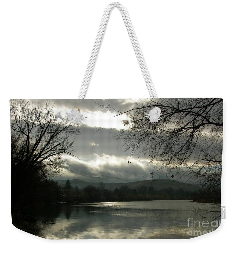 Prosser Weekender Tote Bag featuring the photograph Silver River by Carol Groenen