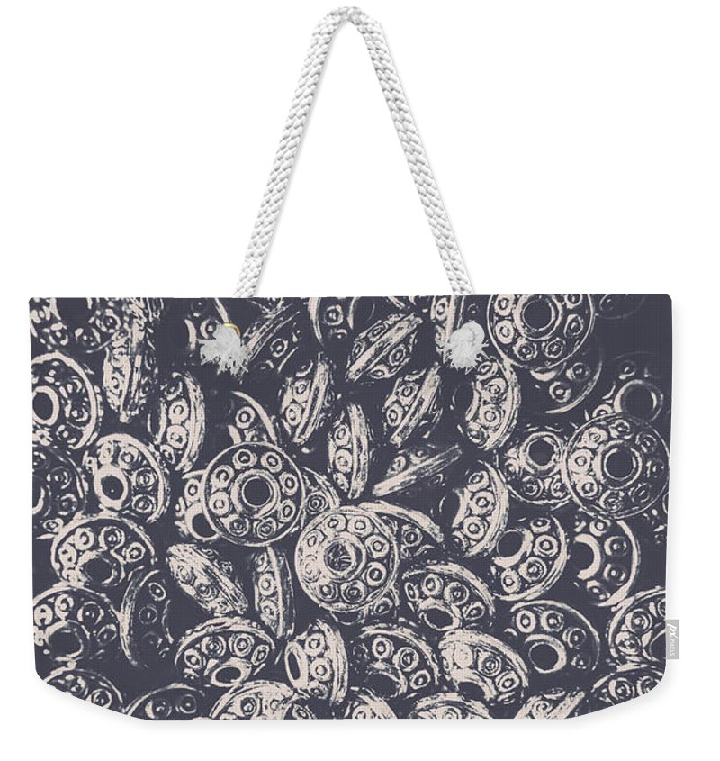 Flying Weekender Tote Bag featuring the photograph Silver Saucers From Outer Space by Jorgo Photography - Wall Art Gallery