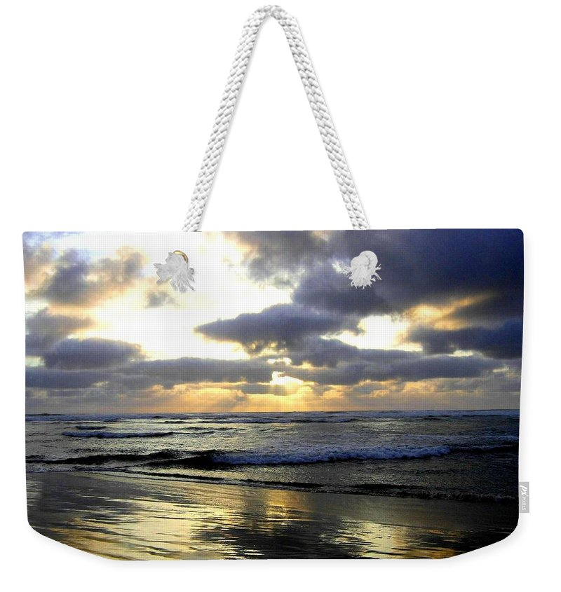 Sunset Weekender Tote Bag featuring the photograph Silver Shores by Will Borden