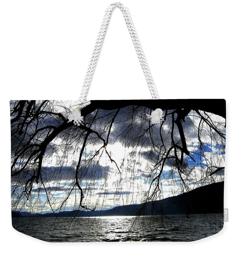 Sunset Weekender Tote Bag featuring the photograph Silver Sunset by Will Borden