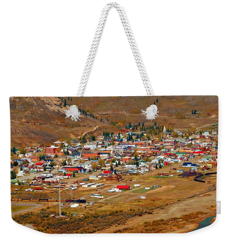 Silverton Colorado Weekender Tote Bag featuring the photograph Silverton Town Site by David Lee Thompson