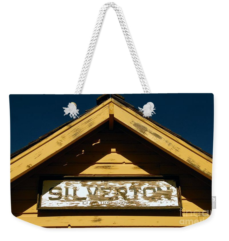 Silverton Colorado Weekender Tote Bag featuring the photograph Silverton Train Station by David Lee Thompson