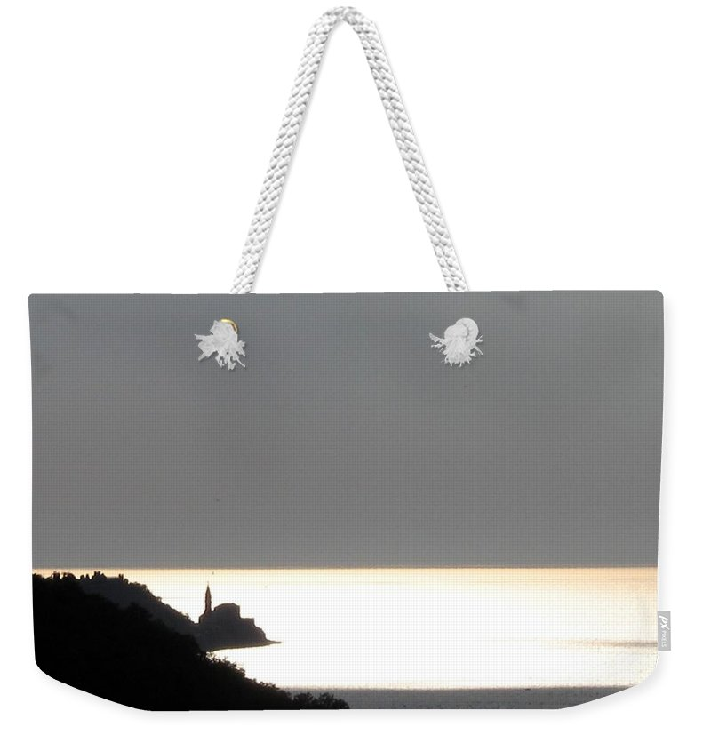 Sunset Weekender Tote Bag featuring the photograph Silvery by Dragica Micki Fortuna