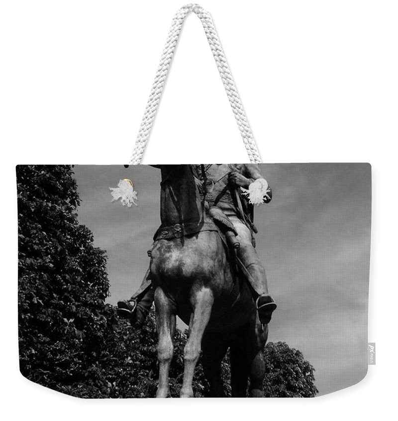 Simon Weekender Tote Bag featuring the photograph Simon Bolivar by Juergen Weiss