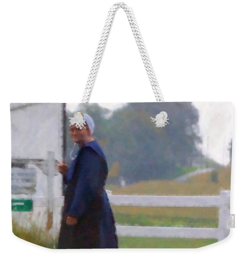 Amish Weekender Tote Bag featuring the photograph Simple Living by Debbi Granruth