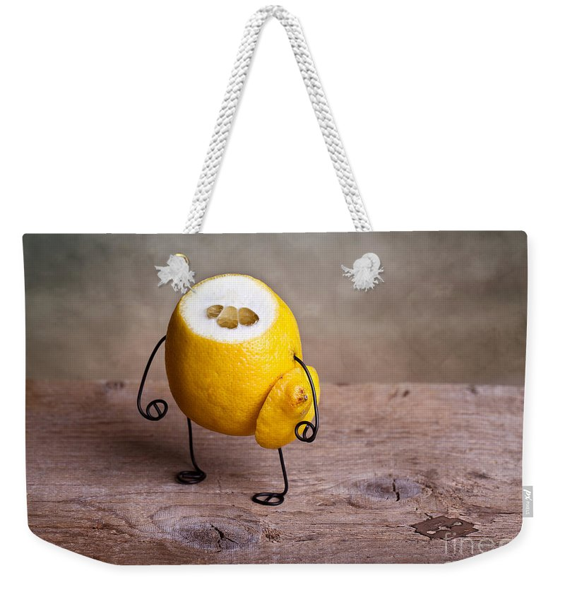 Lemon Weekender Tote Bag featuring the photograph Simple Things 12 by Nailia Schwarz