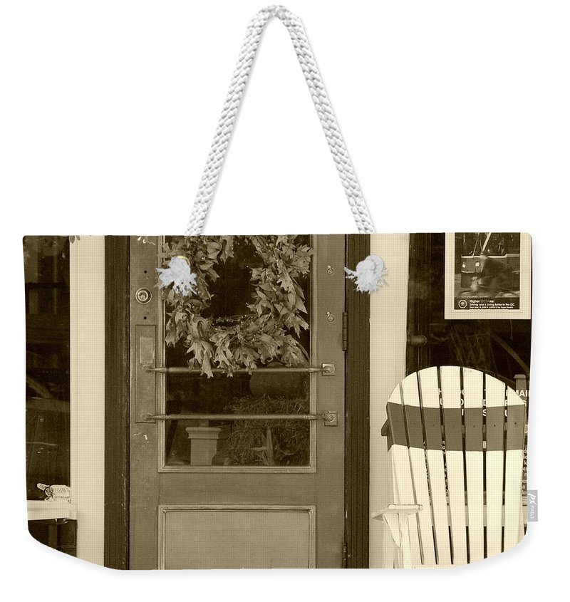 Rocking Chair Weekender Tote Bag featuring the photograph Simple Times by Debbi Granruth