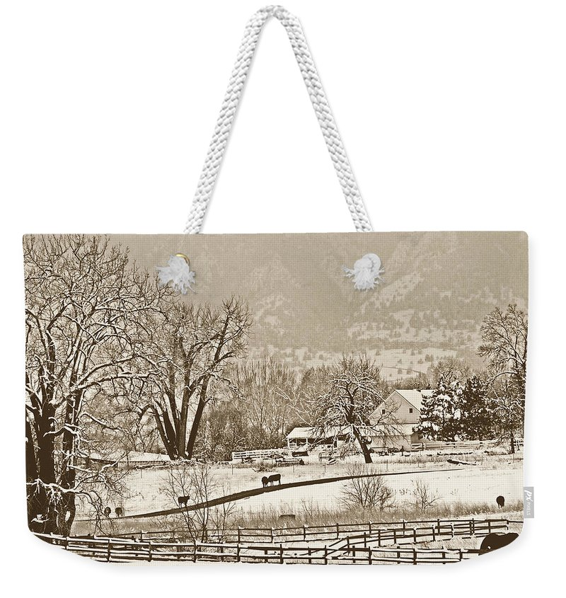 Landscape Weekender Tote Bag featuring the photograph Simpler Times by Marilyn Hunt