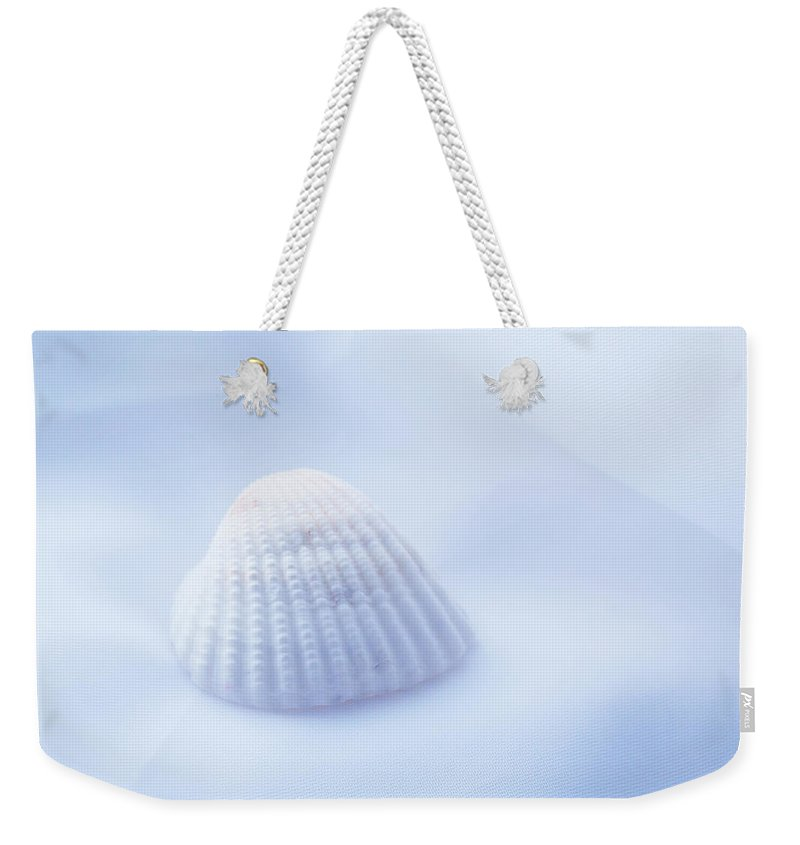 Seashell Weekender Tote Bag featuring the photograph Simplicity by Linda Sannuti