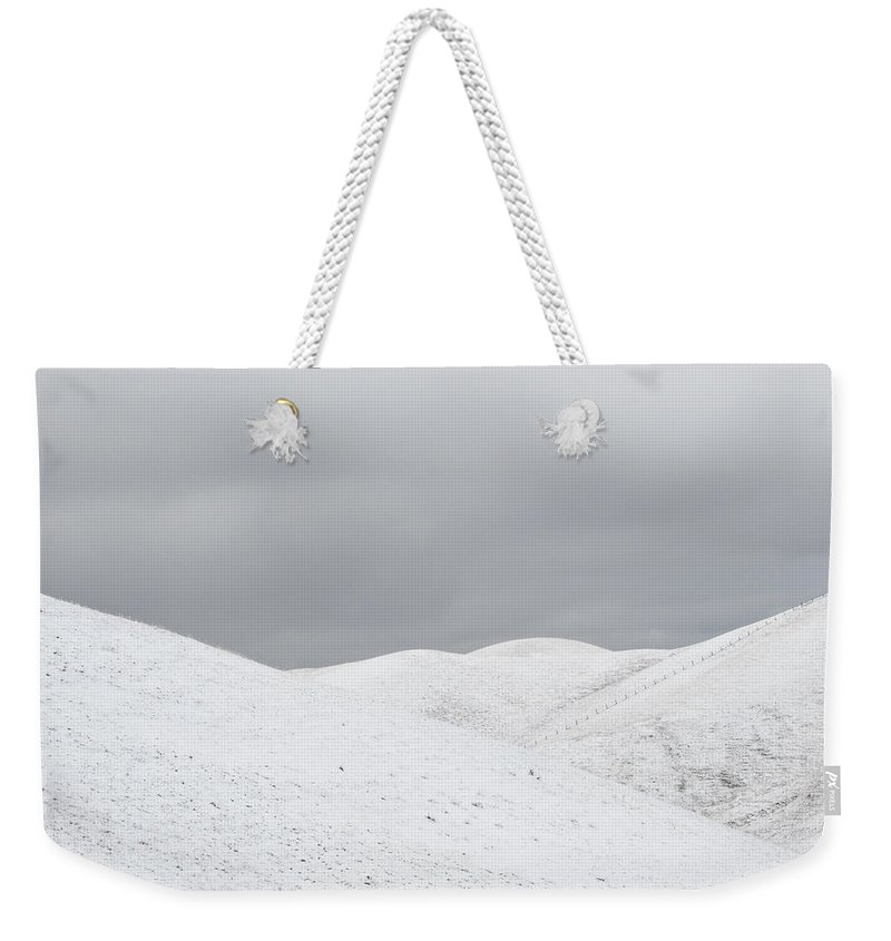 Snow Weekender Tote Bag featuring the photograph Simply Snow by Karen W Meyer