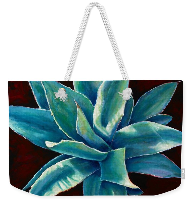 Agave Weekender Tote Bag featuring the painting Simply Succulent by Shannon Grissom
