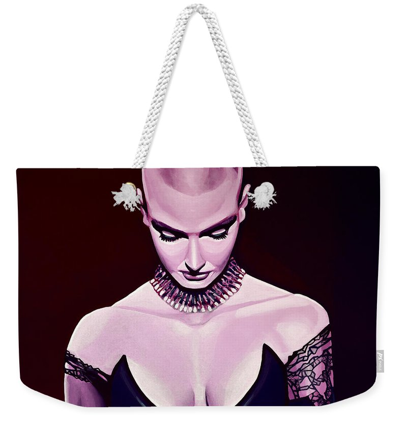 Sinead O'connor Weekender Tote Bag featuring the painting Sinead O'Connor by Paul Meijering