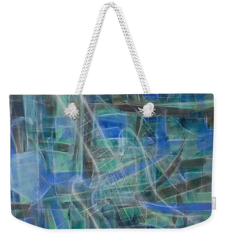 Guitar Weekender Tote Bag featuring the painting Singing The Blues by Dawn Hough Sebaugh