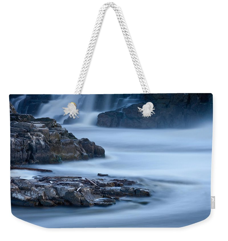 South Weekender Tote Bag featuring the photograph Sioux Falls Park South Dakota by Steve Gadomski