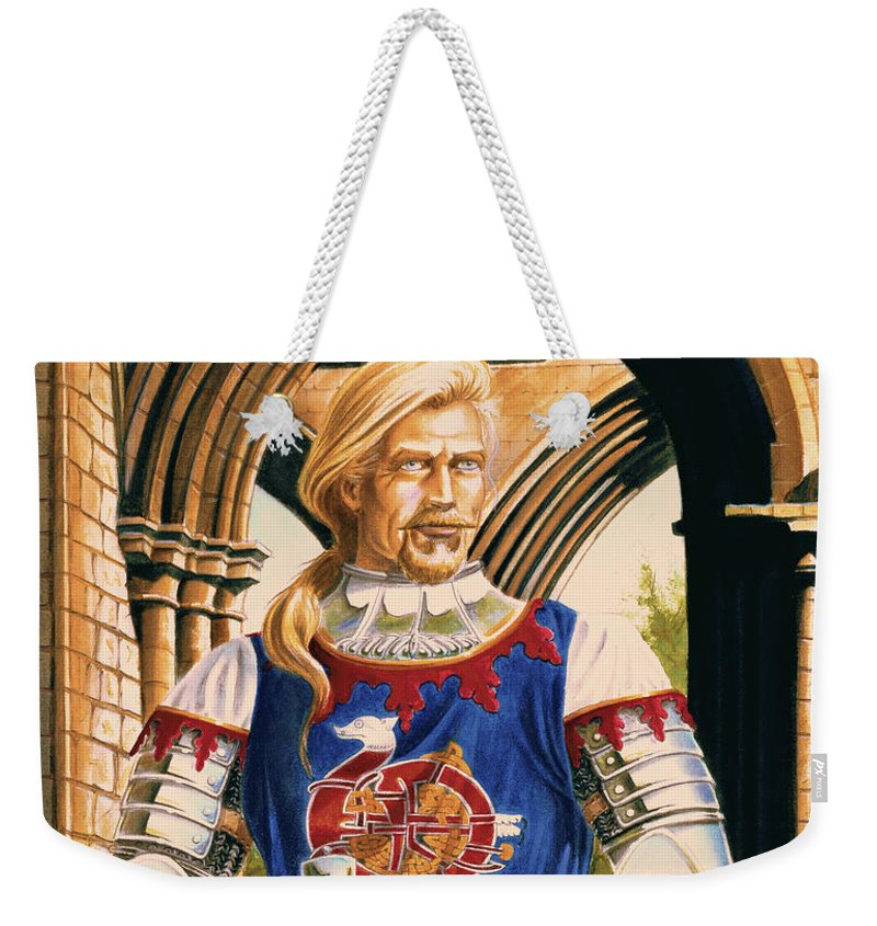 Swords Weekender Tote Bag featuring the painting Sir Dinadan by Melissa A Benson