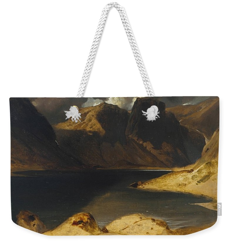 Sir Edwin Henry Landseer 1802–1873  Loch Avon And The Cairngorm Mountains Weekender Tote Bag featuring the painting Sir Edwin Henry by MotionAge Designs