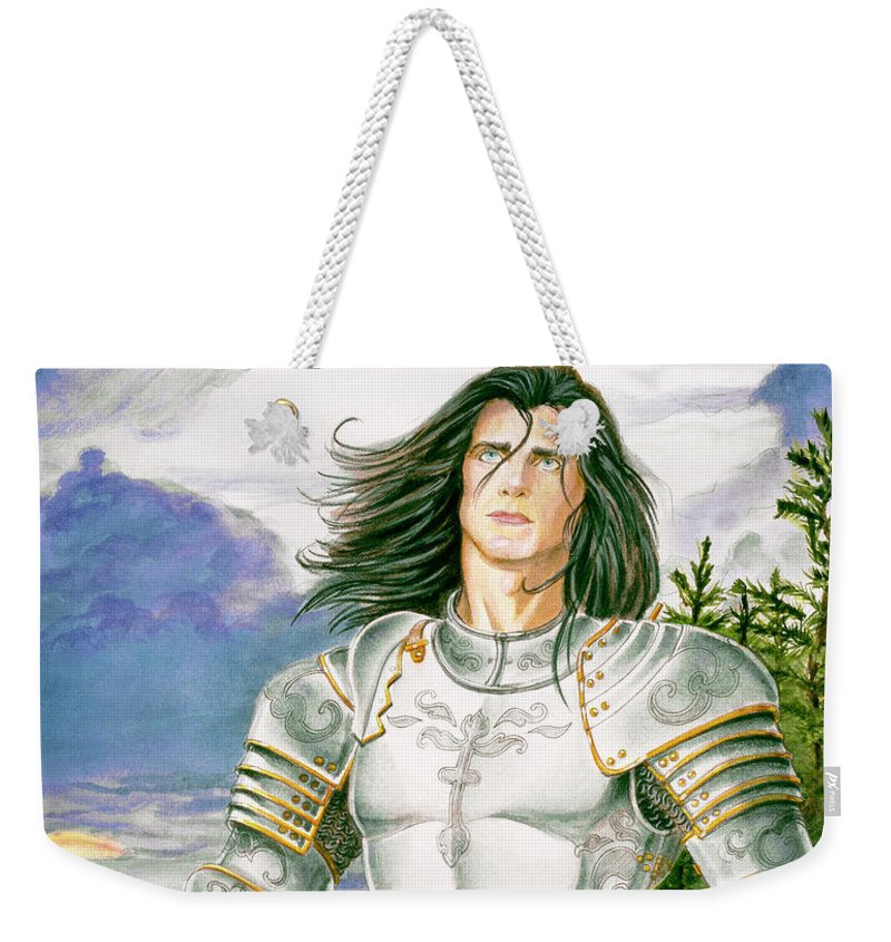 Swords Weekender Tote Bag featuring the painting Sir Lancelot by Melissa A Benson