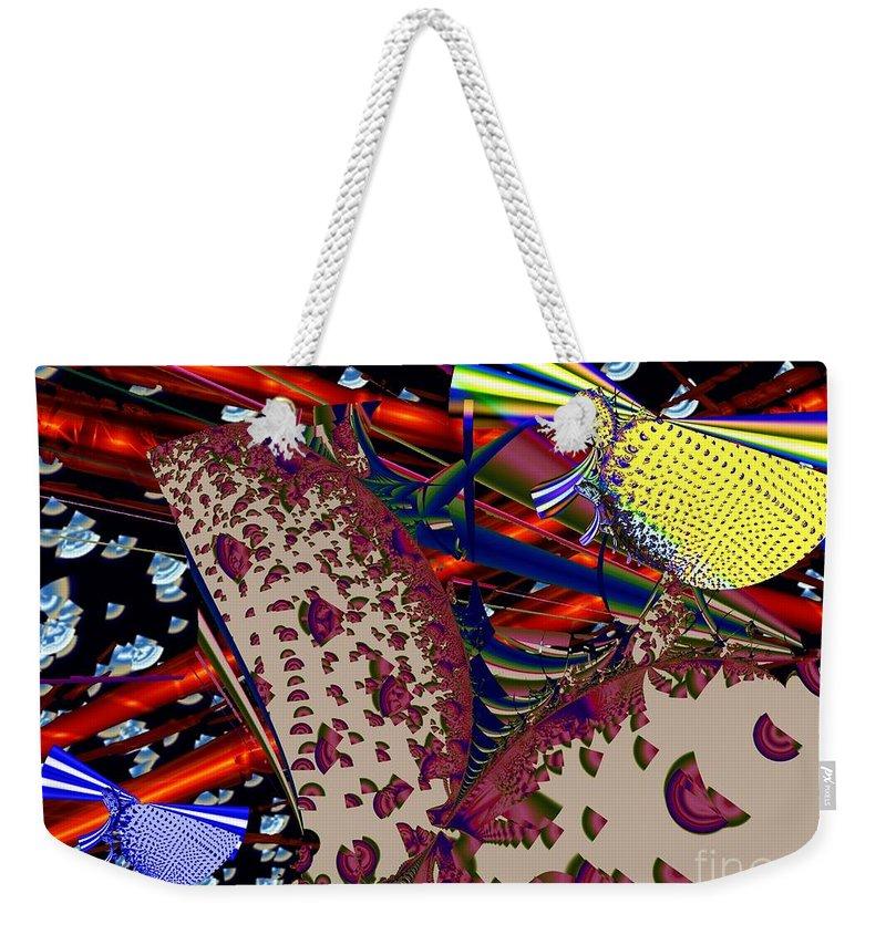 Siren Weekender Tote Bag featuring the digital art Sirens by Ron Bissett