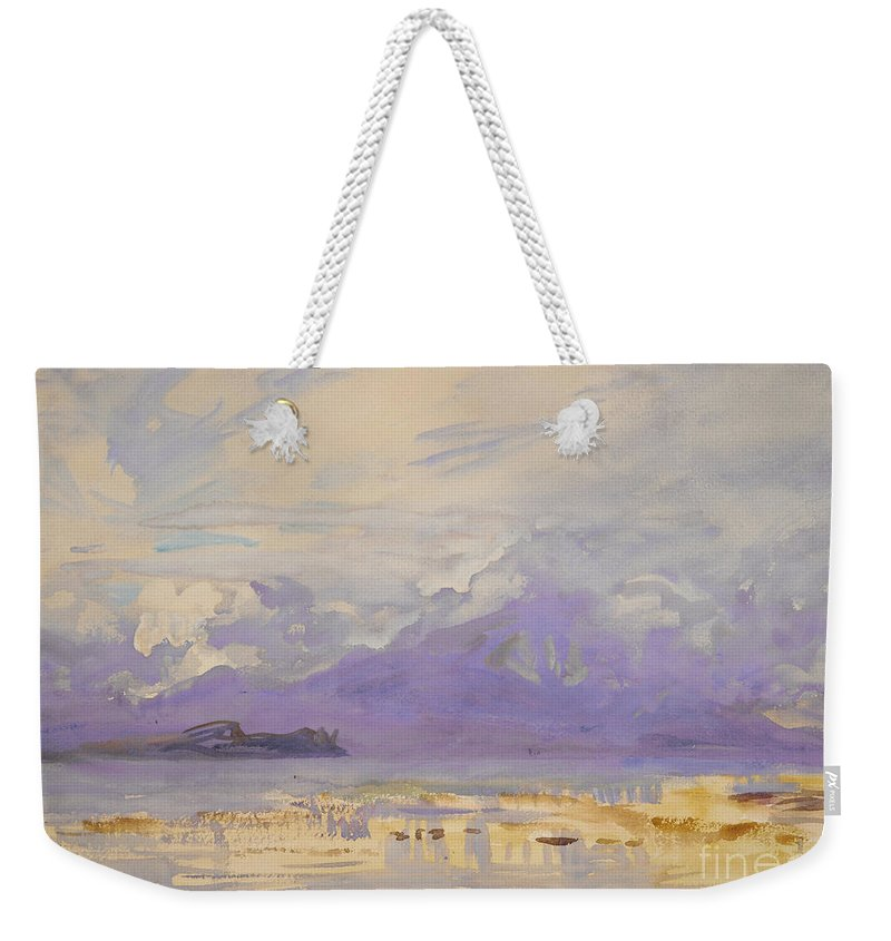 Sirmione Weekender Tote Bag featuring the painting Sirmione, 1913 by John Singer Sargent